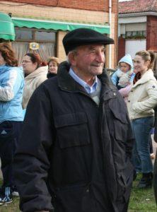En el homenaje que le rindieron, en Zeluán, en 2008.
